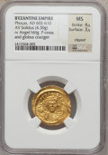 Ancients:Byzantine, Ancients: Phocas (AD 602-610). Lot of two AV solidi. ... (Total: 2coins)