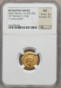 Ancients:Byzantine, Ancients: Maurice Tiberius (582-602). AV tremissis (1.49 gm). ...