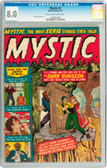 Golden Age (1938-1955):Horror, Mystic #2 (Atlas, 1951) CGC VF 8.0 Cream to off-white pages....