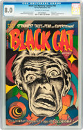 Golden Age (1938-1955):Horror, Black Cat Mystery #45 (Harvey, 1953) CGC VF 8.0 Off-white to whitepages....