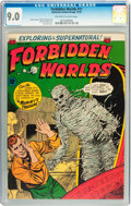 Golden Age (1938-1955):Horror, Forbidden Worlds #11 (ACG, 1952) CGC VF/NM 9.0 Off-white to whitepages....