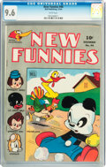 Golden Age (1938-1955):Funny Animal, New Funnies #94 (Dell, 1944) CGC NM+ 9.6 White pages....