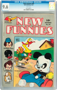 New Funnies #94 (Dell, 1944) CGC NM+ 9.6 White pages