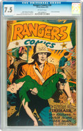 Golden Age (1938-1955):War, Rangers Comics #30 (Fiction House, 1946) CGC VF- 7.5 Off-white pages....