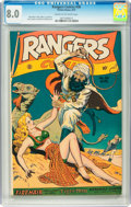 Golden Age (1938-1955):War, Rangers Comics #36 (Fiction House, 1947) CGC VF 8.0 Cream tooff-white pages....