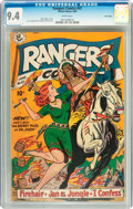 Golden Age (1938-1955):Western, Rangers Comics #47 Lost Valley pedigree (Fiction House, 1949) CGC NM 9.4 White pages....