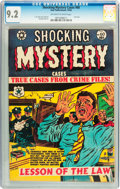 Golden Age (1938-1955):Crime, Shocking Mystery Cases #60 (Star Publications, 1954) CGC NM- 9.2 Off-white to white pages....