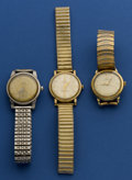 Timepieces:Wristwatch, Three Omega Automatics For Restoration. ... (Total: 3 Items)