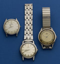 Timepieces:Wristwatch, Three Steel Omega's For Repair. ... (Total: 3 Items)