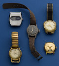 Timepieces:Wristwatch, Lot Of Five Interesting Watches For Repair. ... (Total: 5 Items)