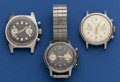 Timepieces:Wristwatch, Three Wakmann Chronographs For Parts. ... (Total: 3 Items)