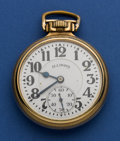 Timepieces:Wristwatch, Illinois 21 Jewel Sixty Hour Grade 161A Elinvar. ...