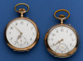 Timepieces:Pocket (post 1900), Two Swiss Silver Pocket Watches Runners. ... (Total: 2 Items)