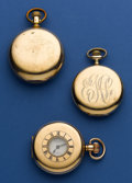 Timepieces:Pocket (post 1900), Three Pocket Watches Demi-Hunter Waltham & C.H. Ankeny. ... (Total: 3 Items)