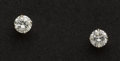 Estate Jewelry:Earrings, Fine Diamond Stud Gold Earrings. ...