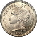 Proof Three Cent Nickels, 1877 3CN PR66 PCGS....
