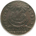 Colonials, 1787 1C Fugio Cent, Club Rays, Rounded Ends AU50 PCGS. CAC. N. 4-E, W-6685, R.3....