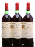 Red Bordeaux, Chateau Cheval Blanc 1980 . St. Emilion. 1bn, 1lnl. Bottle(3). ... (Total: 3 Btls. )
