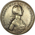 Betts Medals, Betts-403. 1758 Boscawen at Louisbourg. Silver, cast. ExtremelyFine. ...