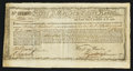 Colonial Notes:Massachusetts , State of Massachusetts Bay Six Percent Treasury Certificate £252,11s January 1, 1780 Anderson MA 22 Very Fine-Extremely Fine....
