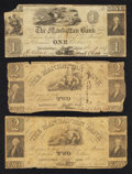 Obsoletes By State:Ohio, Manhattan, OH- Manhattan Bank $1; $2 (2) circa 1837 . ... (Total: 3notes)