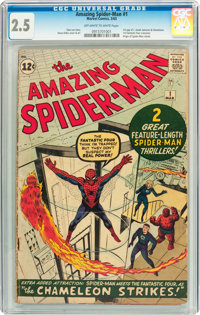 The Amazing Spider-Man #1 (Marvel, 1963) CGC GD+ 2.5 Off-white to white pages