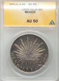 Mexico, Mexico: Republic Cap and Rays Peso 1895 Ga-JS,...