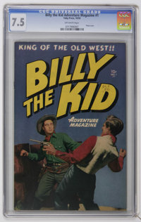 Billy the Kid Adventure Magazine #1 (Toby Publishing, 1950) CGC VF- 7.5 Off-white pages. Photo cover. Al Williamson and...