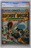 "Golden Age (1938-1955):Classics Illustrated, Classic Comics #5 Moby Dick - Original Edition - Davis Crippen (""D""Copy) pedigree (Gilberton, 1942) CGC VG+ 4.5 Cream to off-..."