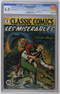 "Golden Age (1938-1955):Classics Illustrated, Classic Comics #9 Les Miserables - Original Edition - Davis Crippen (""D"" Copy) pedigree (Gilberton, 1943) CGC FN 6.0 Cream to ..."