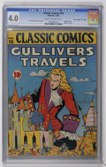 "Golden Age (1938-1955):Classics Illustrated, Classic Comics #16 Gulliver's Travels - Original Edition - Davis Crippen (""D"" Copy) pedigree (Gilberton, 1943) CGC VG 4.0 Crea..."