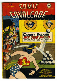 Comic Cavalcade #28 (DC, 1948) Condition: FN/VF. Flash, Green Lantern, and Wonder Woman are joined by the Atom, Black Ca...