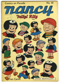 """Golden Age (1938-1955):Humor, Comics On Parade #61 Nancy and Fritzi Ritz - Davis Crippen (""""D"""" Copy) pedigree (United Features Syndicate, 1948) Condition: VF..."""