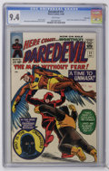 Silver Age (1956-1969):Superhero, Daredevil #11 Green River pedigree (Marvel, 1965) CGC NM 9.4 White pages....