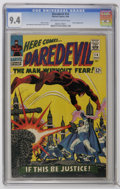Silver Age (1956-1969):Superhero, Daredevil #14 (Marvel, 1966) CGC NM 9.4 Off-white to white pages....