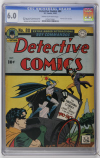 Detective Comics #80 (DC, 1943) CGC FN 6.0 Cream to off-white pages. Two-Face appearance. Bob Kane and Jerry Robinson co...