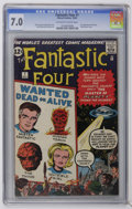 Silver Age (1956-1969):Superhero, Fantastic Four #7 (Marvel, 1962) CGC FN/VF 7.0 Off-white to white pages. Jack Kirby cover and art. Dick Ayers art. Flying sa...