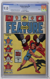 Feature Comics #86 Rockford pedigree (Quality, 1945) CGC VF/NM 9.0 Off-white pages. Alex Kotsky cover. Gill Fox art. Hig...