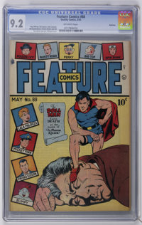 Feature Comics #88 Rockford pedigree (Quality, 1945) CGC NM- 9.2 Off-white pages. Doll Man cover by Al Bryant. Gill Fox...