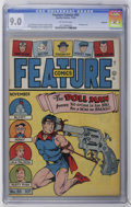 Golden Age (1938-1955):Superhero, Feature Comics #93 Rockford pedigree (Quality, 1945) CGC VF/NM 9.0 Off-white pages. Unusual Doll Man cover by Al Bryant. Gil...