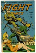 "Golden Age (1938-1955):War, Fight Comics #42 Davis Crippen (""D"" Copy) pedigree (Fiction House,1946) Condition: VF...."