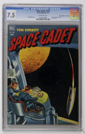 "Golden Age (1938-1955):Science Fiction, Four Color #378 Tom Corbett, Space Cadet - Davis Crippen (""D"" Copy)pedigree (Dell, 1952) CGC VF- 7.5 Off-white pages. Paint..."