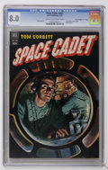 "Golden Age (1938-1955):Science Fiction, Four Color #421 Tom Corbett, Space Cadet - Davis Crippen (""D"" Copy)pedigree (Dell, 1952) CGC VF 8.0 Cream to off-white pages...."