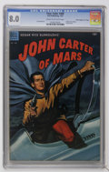 """Golden Age (1938-1955):Miscellaneous, Four Color #488 John Carter of Mars - Davis Crippen (""""D"""" Copy) pedigree (Dell, 1953) CGC VF 8.0 Cream to off-white pages...."""