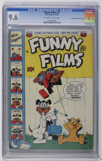 """Funny Films #4 Davis Crippen (""""D"""" Copy) pedigree (ACG, 1950) CGC NM+ 9.6 Off-white to white pages. Overstreet..."""