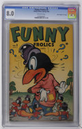 "Golden Age (1938-1955):Funny Animal, Funny Frolics #3 Davis Crippen (""D"" Copy) pedigree (Timely, 1946)CGC VF 8.0 Off-white pages. Overstreet 2006 VF 8.0 value =..."