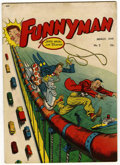"Golden Age (1938-1955):Humor, Funnyman #2 Davis Crippen (""D"" Copy) pedigree (Magazine Enterprises, 1948) Condition: FN+...."