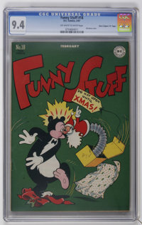 "Funny Stuff #18 Davis Crippen (""D"" Copy) pedigree (DC, 1947) CGC NM 9.4 Off-white to white pages. Featuring th..."