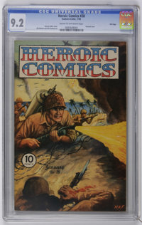 Heroic Comics #28 File Copy (Eastern Color, 1945) CGC NM- 9.2 Cream to off-white pages. Harvey Fuller painted cover. Bil...