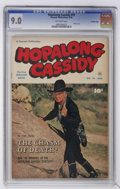 Golden Age (1938-1955):Western, Hopalong Cassidy #70 Crowley Copy pedigree (Fawcett, 1952) CGC VF/NM 9.0 Off-white to white pages. Photo cover. Only copy on...